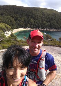 On the boulder overlooking Refuge Cove
