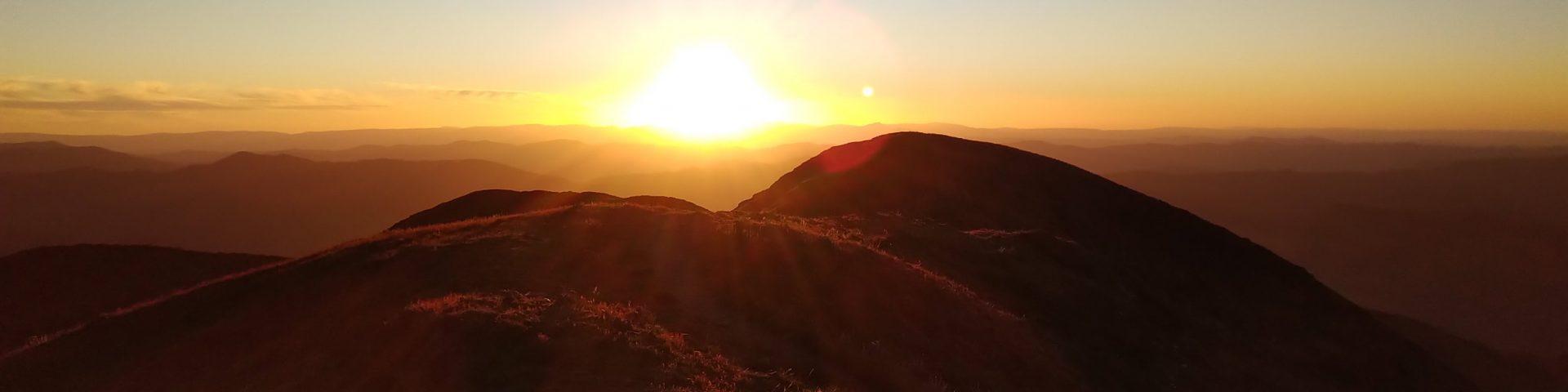 Sunset on Mt Feathertop