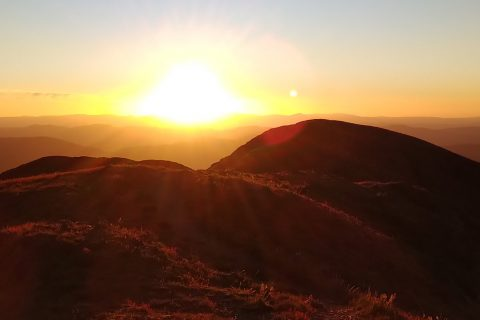 Sunset on Mt Feathertop